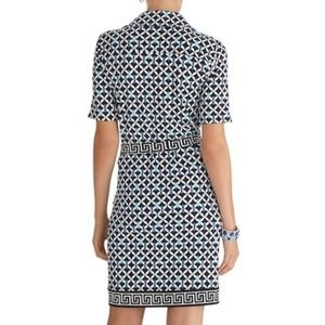 White House Black Market Dresses - WHBM Geometric Print Chain Shift Dress